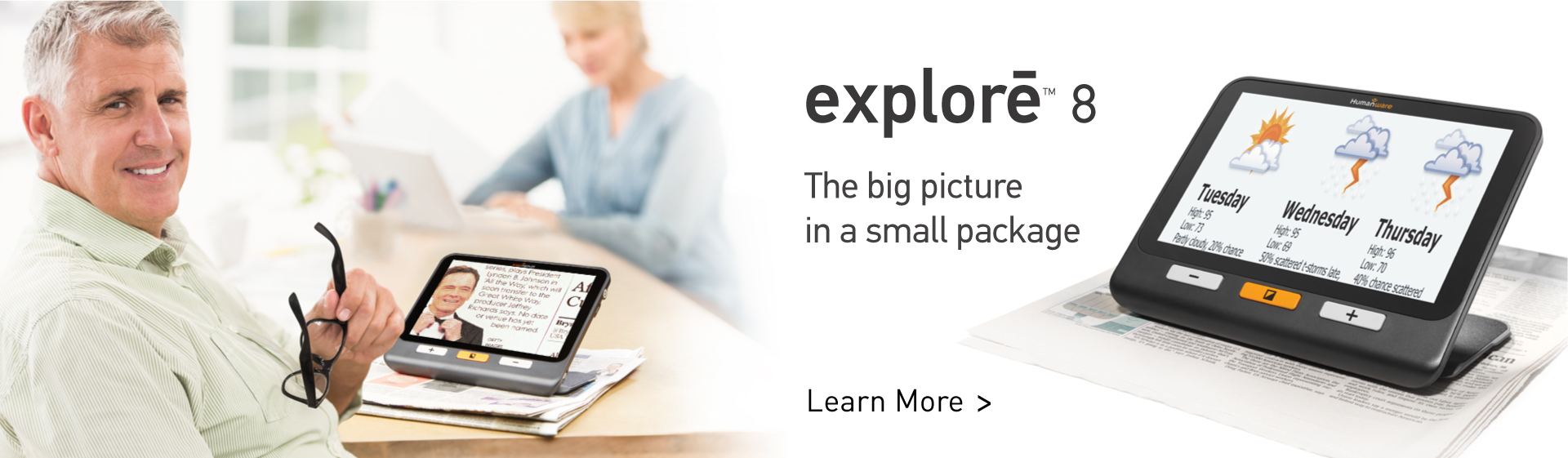 explore 8 - the big picture in a small package